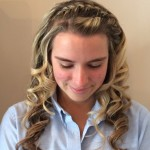 prom headband braid front